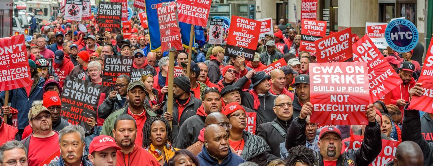 Thousands of CWA Members on Strike!
